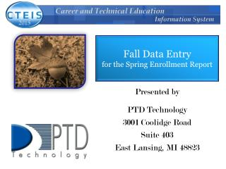Fall Data Entry for the Spring Enrollment Report