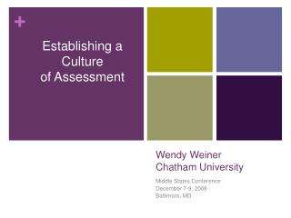 Wendy Weiner Chatham University