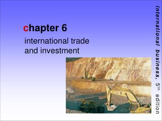 International Trade and Investment