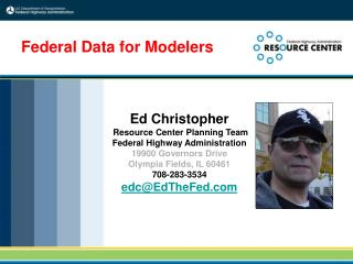 Federal Data for Modelers