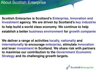 About Scottish Enterprise