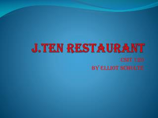 J.Ten Restaurant