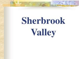 Sherbrook Valley