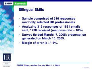 Bilingual Skills