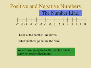 The Number Line.