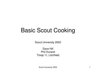 Basic Scout Cooking