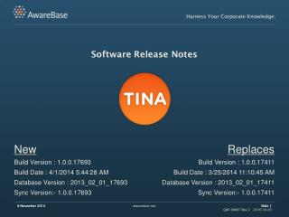 Software Release Notes