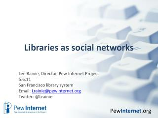 Libraries as social networks