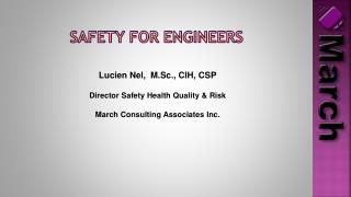Safety for Engineers