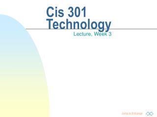 Cis 301 Technology