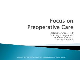 Focus on Preoperative Care