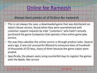 You need To Read just before submitted online fee rameesh