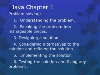 Java Chapter 1