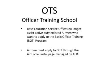OTS Officer Training School