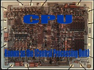 Slide 1 – CPU Acronym