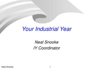 Your Industrial Year