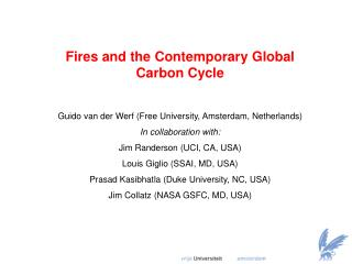 Fires and the Contemporary Global Carbon Cycle