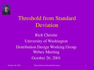 Threshold from Standard Deviation