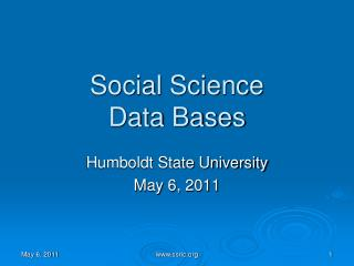 Social Science Data Bases