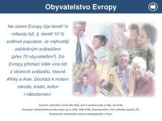 Obyvatelstvo Evropy