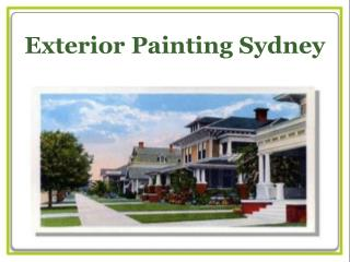 Exterior Painting Services Sydney