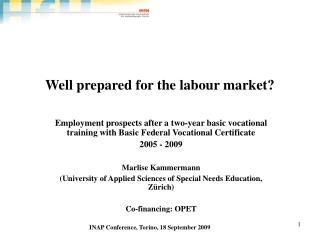 Well prepared for the labour market?