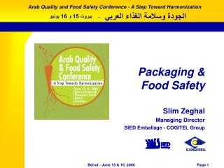 Packaging & Food Safety