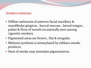 Smokers melanosis