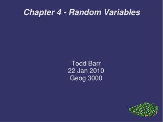 Chapter 4 - Random Variables