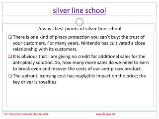 Very simple and safe processor for silver line school