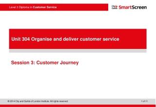 Session 3: Customer Journey