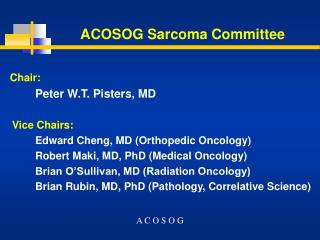 ACOSOG Sarcoma Committee
