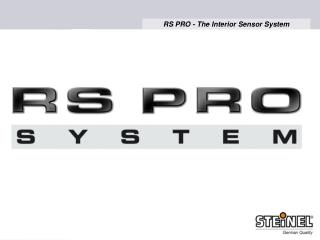 RS PRO 500 RS PRO 1000 RS PRO SYSTEM  - our high-frequency technology as a
