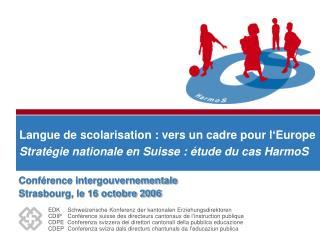 Conférence intergouvernementale  Strasbourg, le 16 octobre 2006