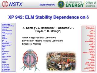 XP 942: ELM Stability Dependence on  d