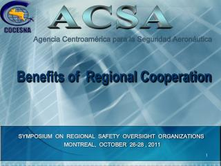 Benefits of  Regional Cooperation