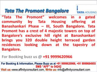Tata The Promont Banashankari South Bangalore @ 09999620966