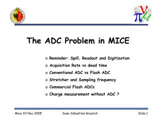 The ADC Problem in MICE
