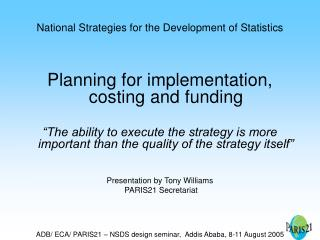 National Strategies for the Development of Statistics