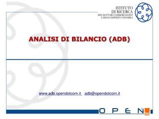ANALISI DI BILANCIO (ADB)