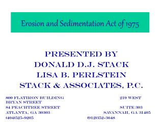 Erosion and Sedimentation Act of 1975