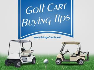Tips to Buy the Right Golf Carts