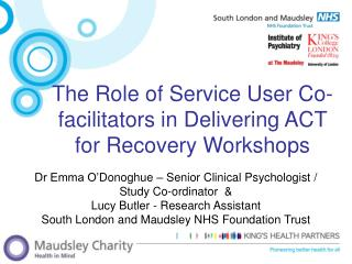 The Role of Service User Co-facilitators in Delivering ACT for Recovery Workshops