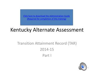 Kentucky Alternate Assessment