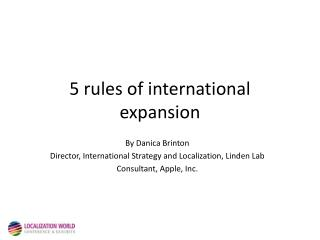 5 rules of international expansion