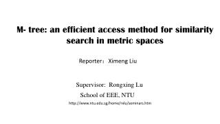 M- tree: an efficient access method for similarity search in metric spaces