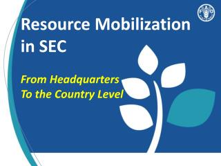 Resource Mobilization in SEC From Headquarters To the Country Level