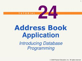 Address Book  Application Introducing Database Programming