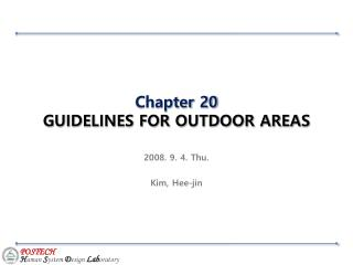 Chapter 20  GUIDELINES FOR OUTDOOR AREAS