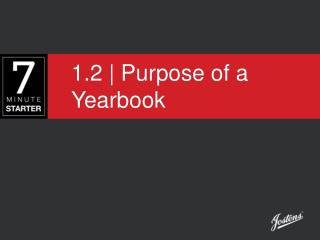 1.2 | Purpose of a Yearbook